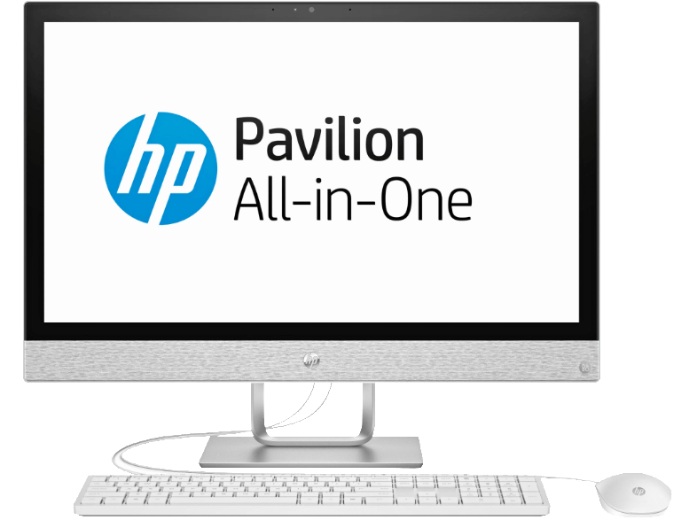 HP Pavilion All-in-One – All-in-One-PC mit 23.8 Zoll, 1 TB Speicher, 8 GB RAM, Weiß